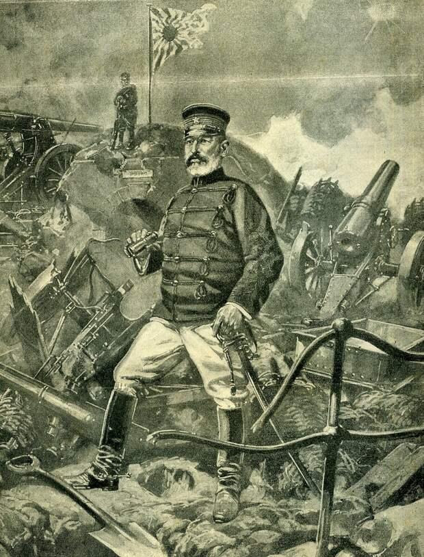 Генерал Ноги во время осады Порт-Артура.