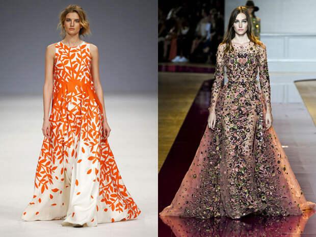 Пестрые платья на Новый год 2017