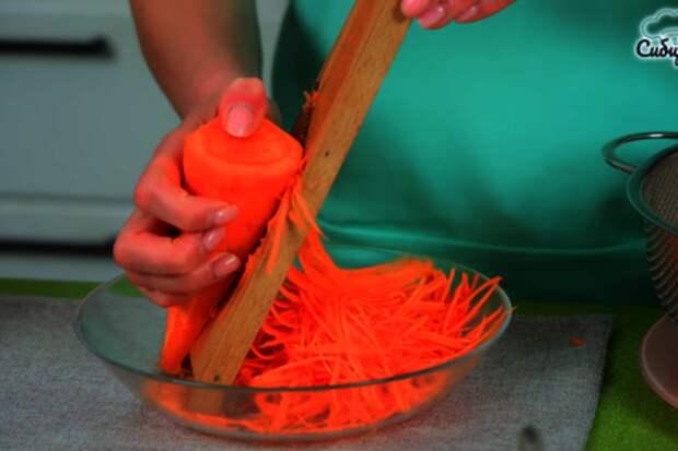Корейский салат с шампиньонами и морковью: фото шаг 2