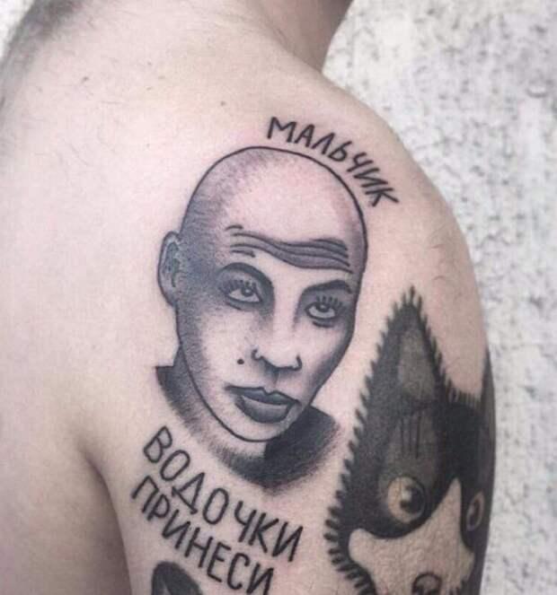 странное тату