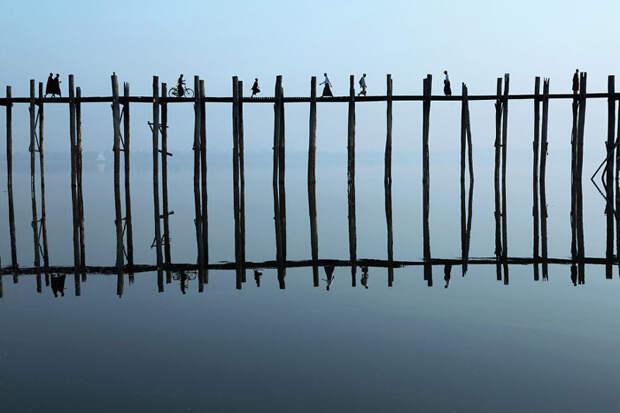 Мост У-Бейн, Мьянма красота, путешествия, фото
