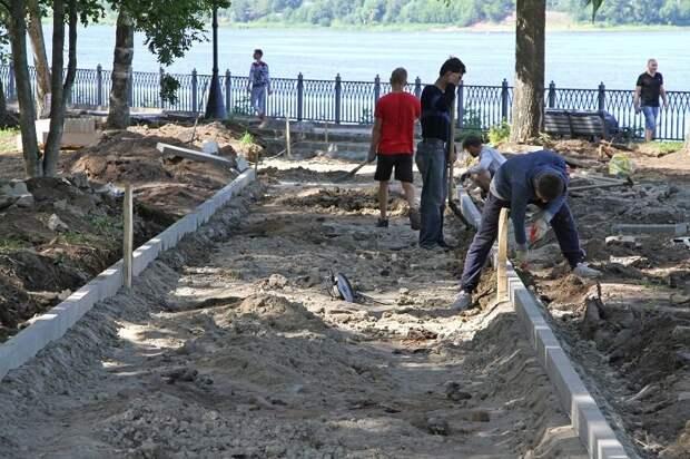 В Рыбинске не успеют доделать Волжский парк ко Дню города