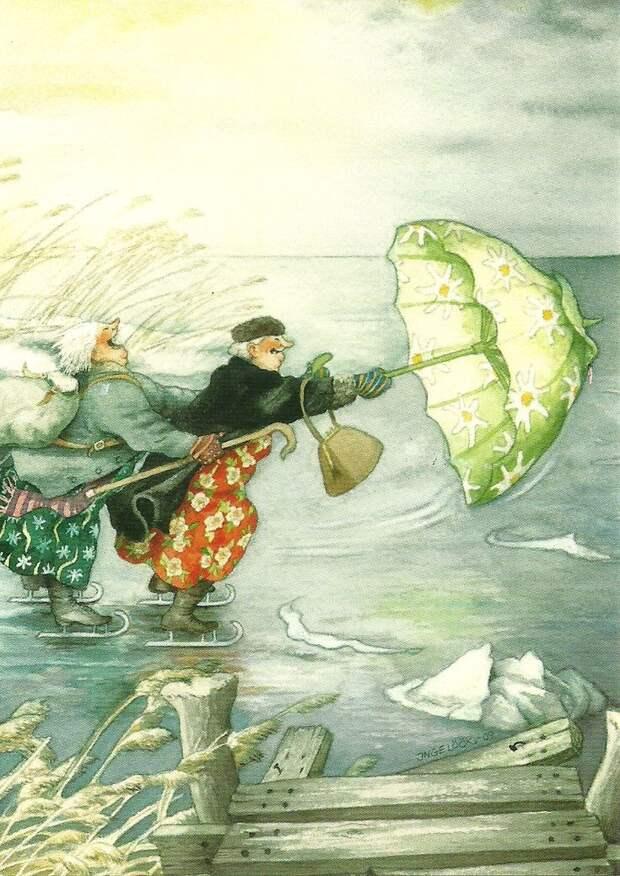 Финская художница Инге Лёёк INGE LÖÖK.