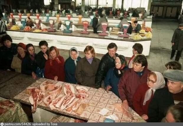 Центральный рынок Новокузнецка, 1991. Двумя годами ранее всё было куда мрачнее. история, факты, фото