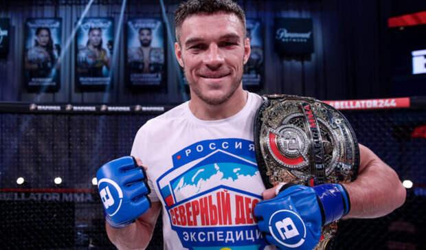 Белгородец Вадим Немков защитил чемпионский пояс Bellator вполутяжёлом весе