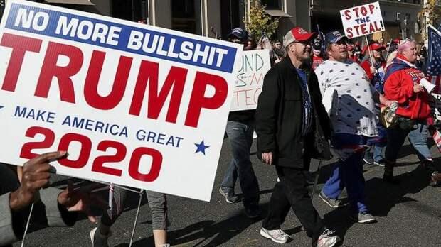 Встолице США прошел марш сторонников Трампа