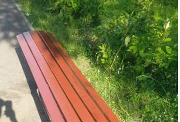 Вандалы в парке «Зеленый театр» дважды надругались над лавочкой