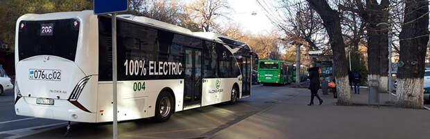Новый маршрут с электрическими автобусами запустили в Алматы