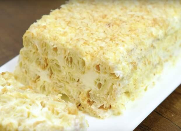 Невероятно вкусный торт из трех ингредиентов. Будет вкуснее Наполеона