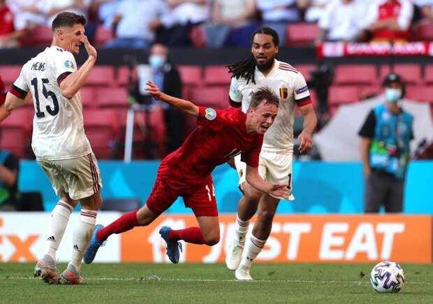 Гол Де Брейне принес Бельгии победу над Данией на Евро-2020 (видео)