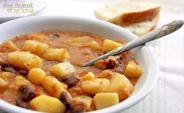 Картошечка, тушенная с мясом 😋