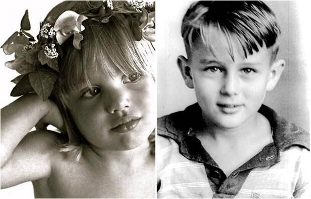 Голливудские знаменитости в детстве.