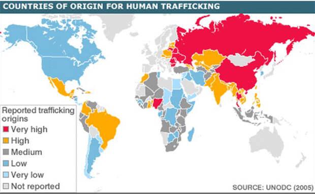 Карта стран доноров