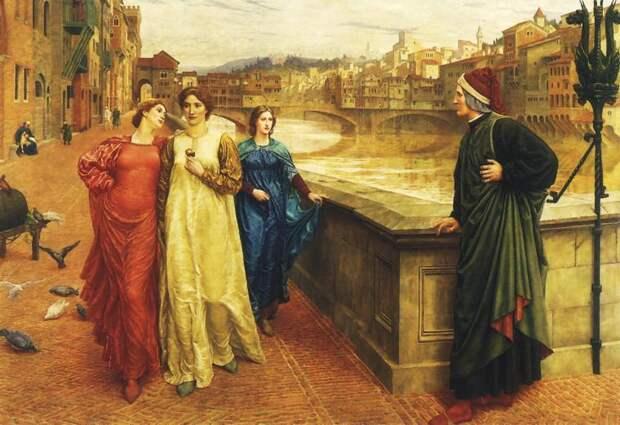 Встреча Данте с Беатриче.