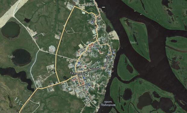 Поселок Тазовский.                                                                                                                                              Свободный доступ. Яндекс картинки.