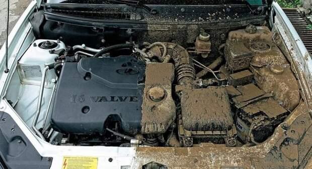 Как очистить моторный отсек, так чтобы он блестел