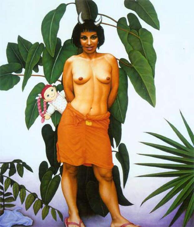 Обнаженная натура в изобразительном искусстве разных стран. Часть 87.