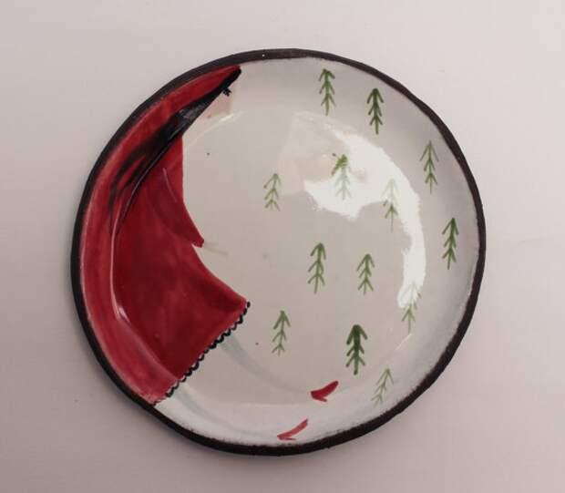 необычные тарелки керамика для сервировки стола