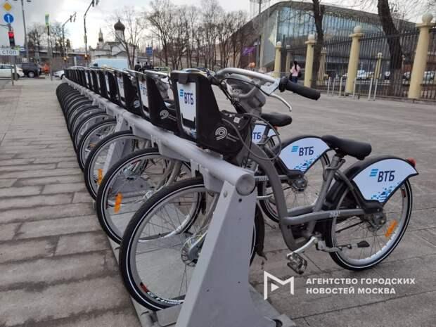Станции велопроката в Марьине запустят полностью к середине апреля