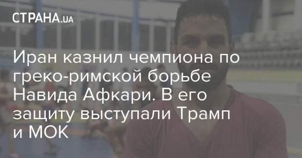 Иран казнил чемпиона по греко-римской борьбе Навида Афкари. В его защиту выступали Трамп и МОК