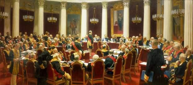 И. Е. Репин, Торжественное заседание Государственного совета 7 мая 1901 года в честь столетнего юбилея со дня его учреждения. 1903