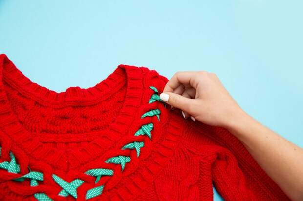 Еще новогодний свитер (Diy)