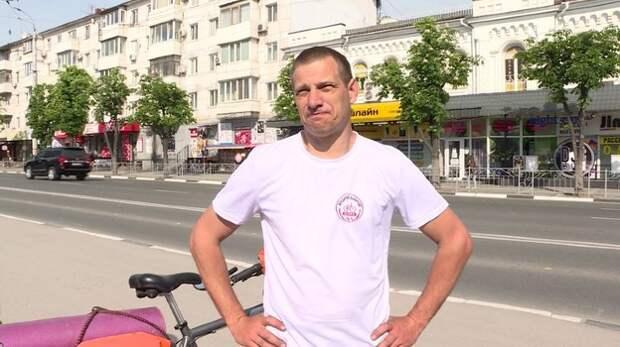 Крымчанин выехал на велосипеде из Симферополя во Владивосток