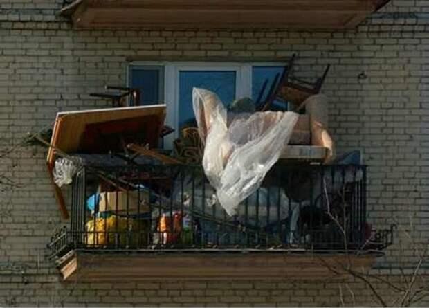 Картинки по запросу хлам балкон