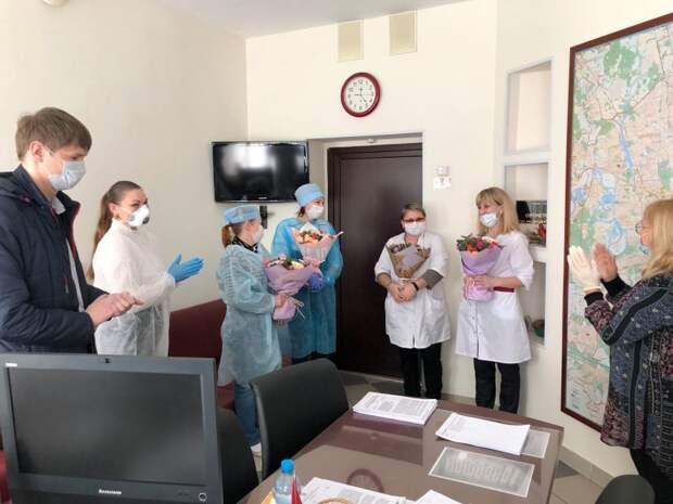 Сотрудники управы района Сокол посетили поликлинику № 62