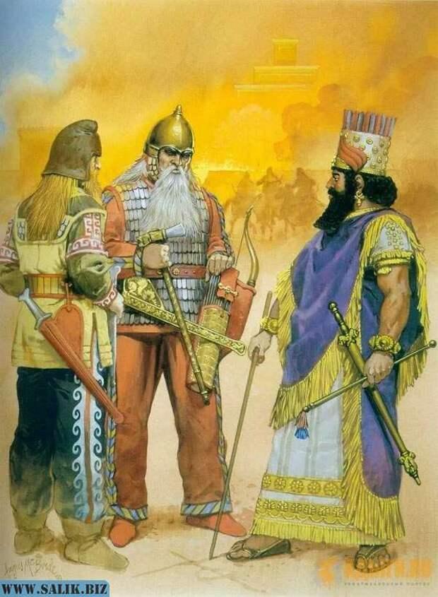 Киммерийцы и скифы одно время были союзниками ассирийцев, но впоследствии разошлись каждый своими дорогами.