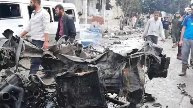 Автомобиль главаря сирийской оппозиции взорвали на севере провинции Алеппо