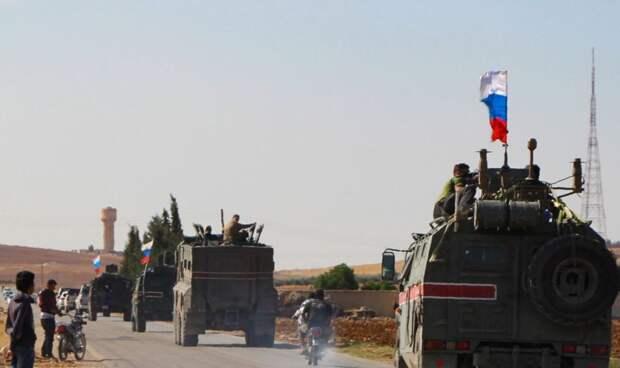 Российские военнослужащие подверглись нападению террористов в городе Айн-Исса в Сирии