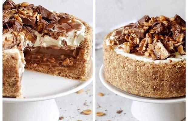 Мега вкусный тортик «Сникерс»