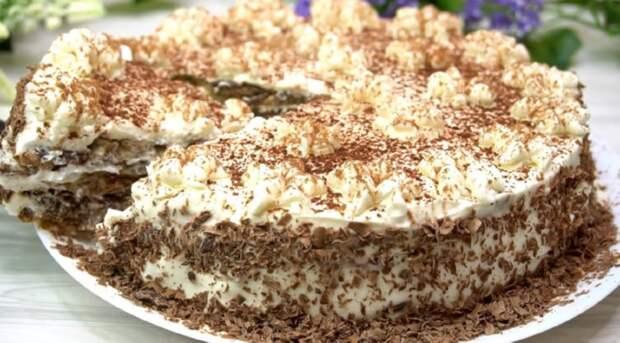 Итальянский торт без муки: гости будут в восторге