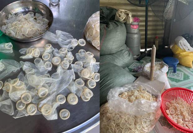 Во Вьетнаме полиция изъяла 300 тысяч использованных презервативов. Их продавали повторно