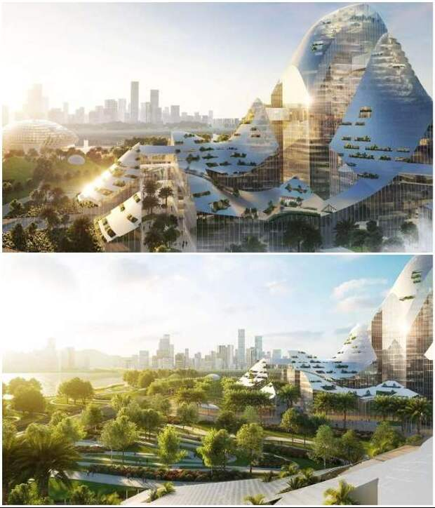 Китай готовит проект футуристического «умного» без автомобилей (13 фото + видео)
