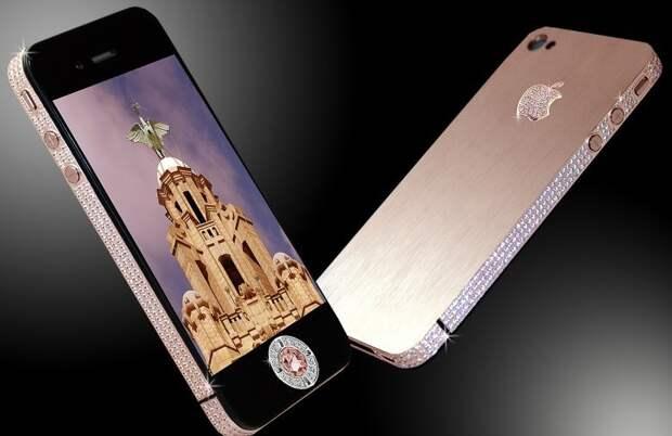 Apple Diamond Rose Iphone 4