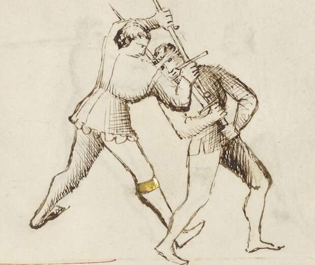 """Ближний бой, переросший в борьбу. """"Цветок войны"""", 1410."""