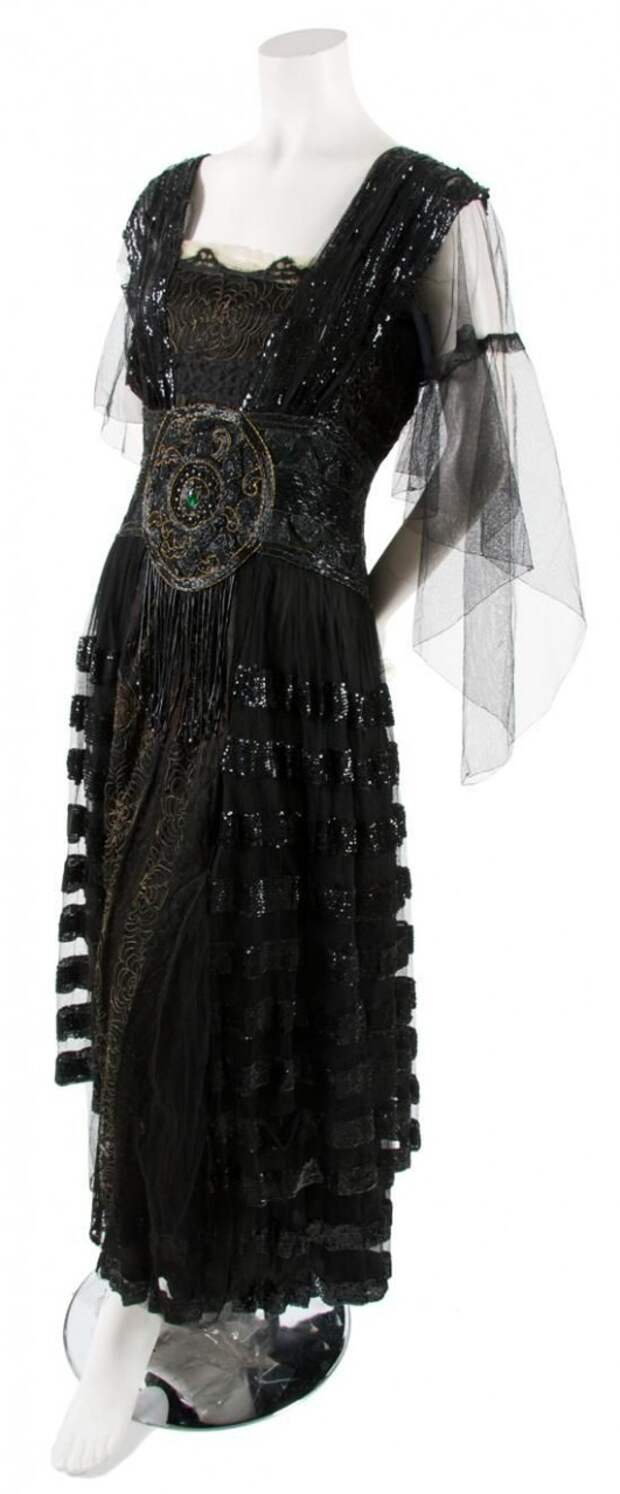 Black Tulle and Sequin Dress,   circa 1920 B. Atlman & Co./New York/Paris.