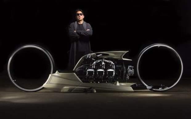 Пилот Формулы-1 построил гипербайк с авиационным двигателем