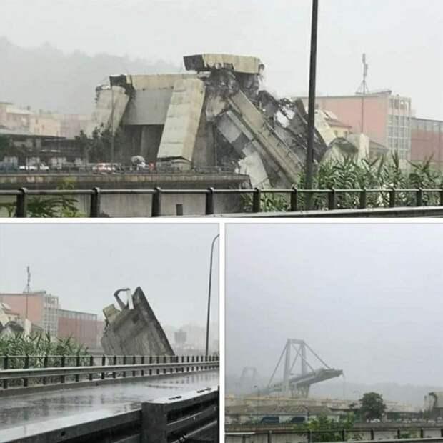 Молния! 11 человек погибли в результате обрушения моста