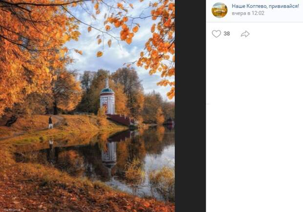 Фото дня: воспоминания о золотой осени на Головинских