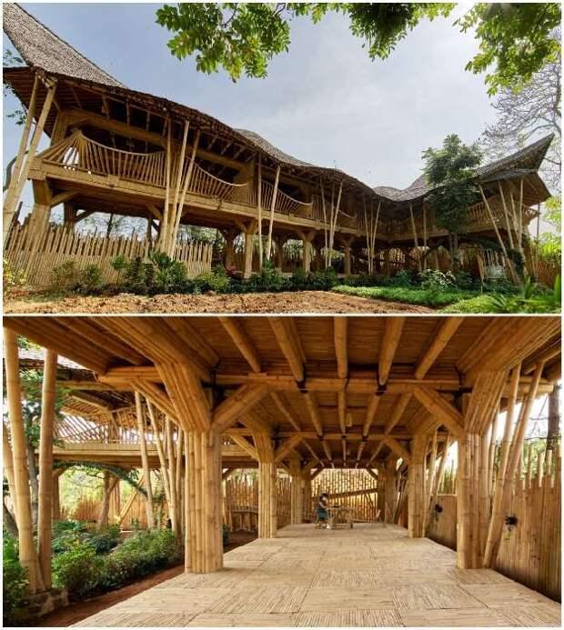Усадьба из бамбука и пластика обошлась в 2 раза дешевле, чем из традиционных материалов