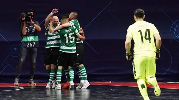 КПРФ проиграла «Спортингу» в четвертьфинале мини-футбольной Лиги чемпионов
