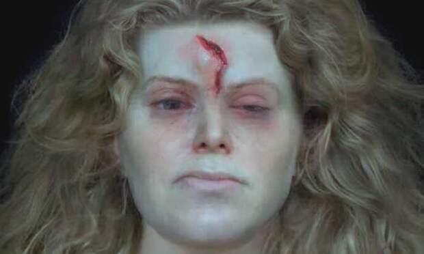 Лицо женщины-воина, воссозданное с помощью современных компьютерных технологий.