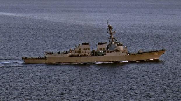 Эсминец ВМС США Roosevelt направляется в Чёрное море