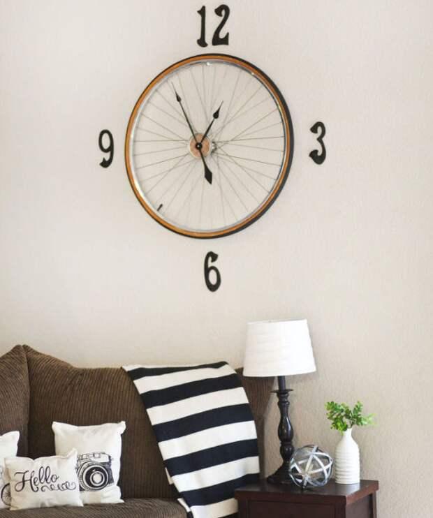 переделка велосипеда колеса в часы