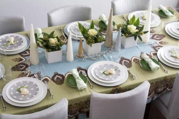 Сервировка стола на Новый2020год