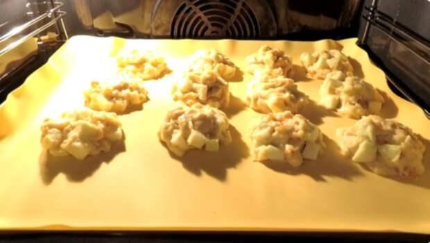 Итальянский рецепт мягкого печенья с яблоками, как нежные булочки