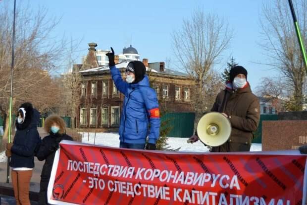 «Хватит Путина продлять»: барнаульцы вышли на митинг против развала медицины